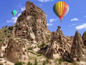 over the Cappadocia