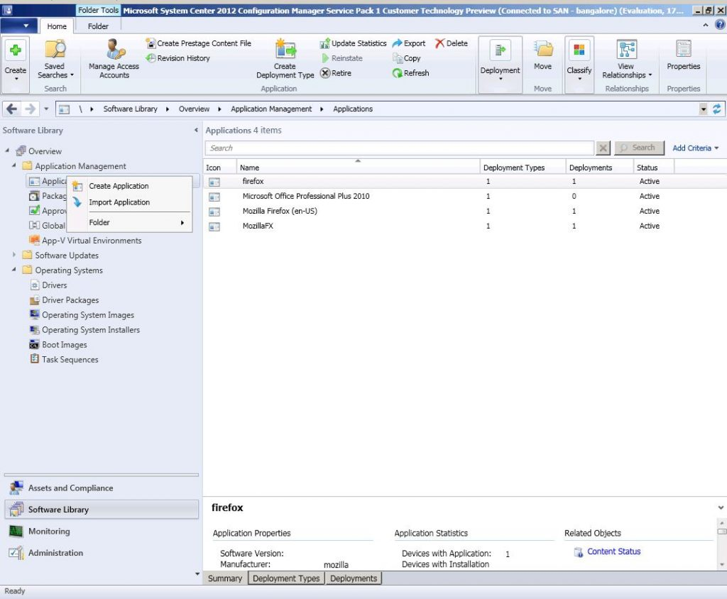 sccm application deployment